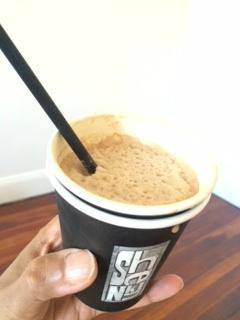 $6 iced frappe in a small coffee cup...Shenkin FAIL