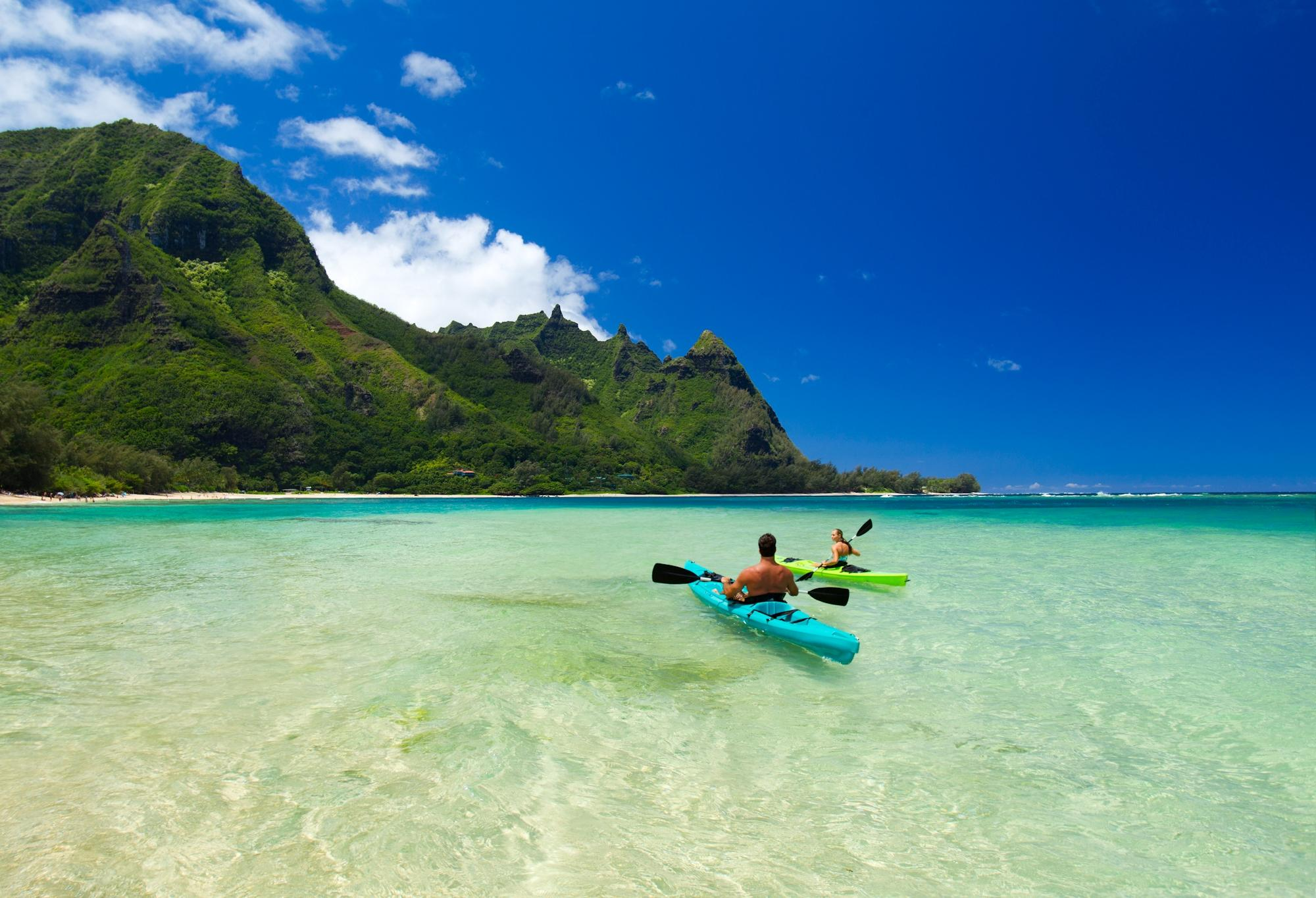 Hanalei Bay is a perfect, curved bay of incredible beauty, just west of Princeville.