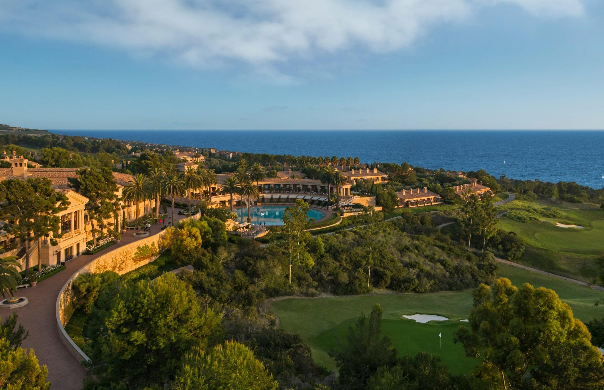 Spanish style resort overlooking the Pacific & gold course