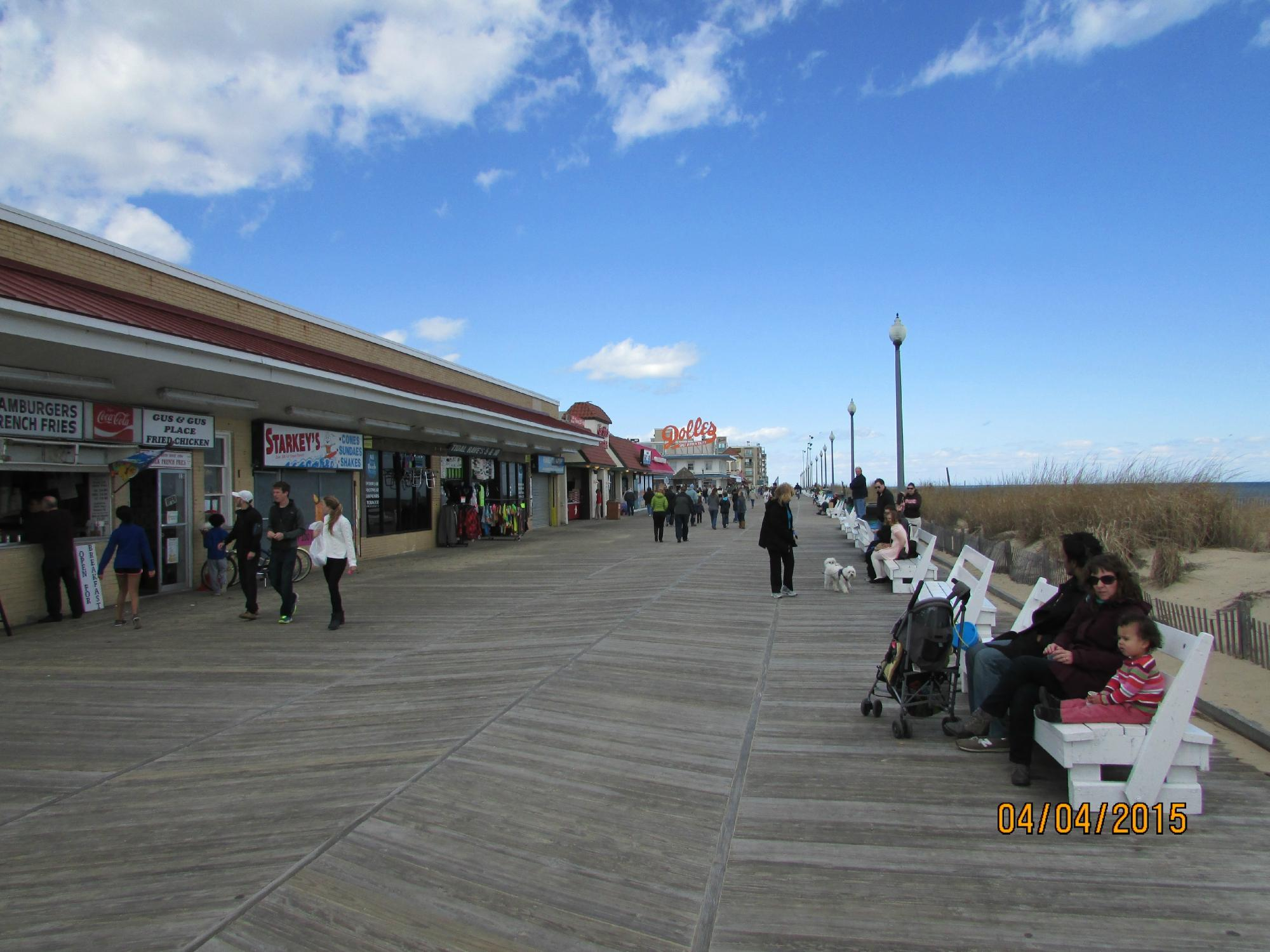 1 area of the board walk