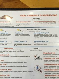 Earl Campbell's Sports Bar