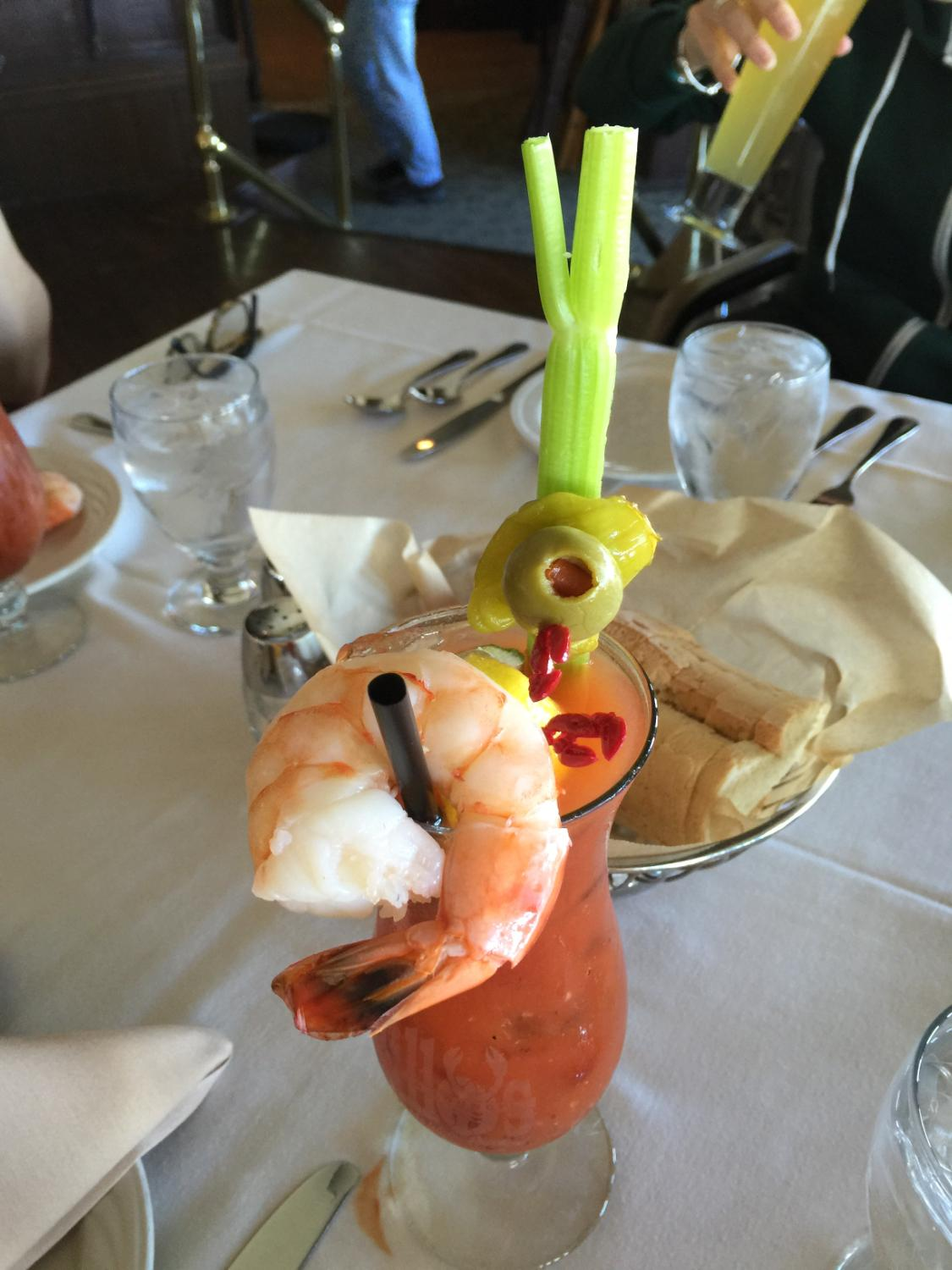 Well garnished Bloody Mary