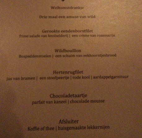 Het menu