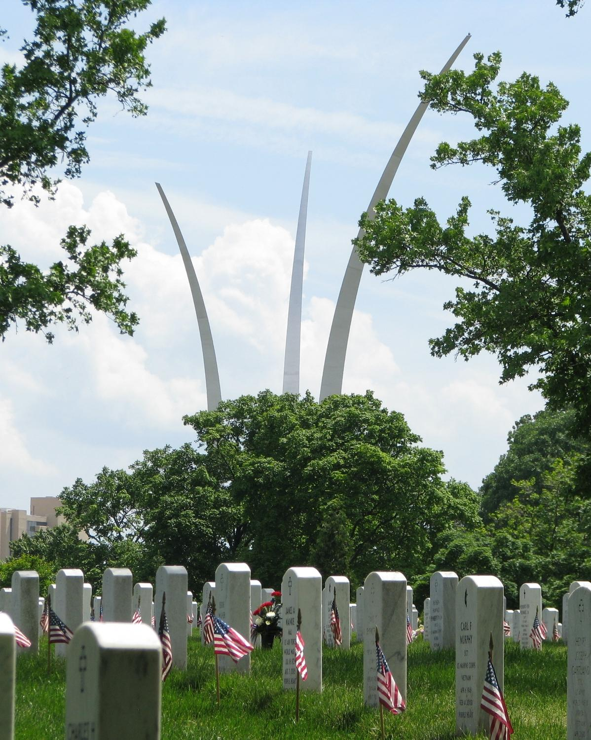 Airforce Memorial as seen from Arlington National cemetery