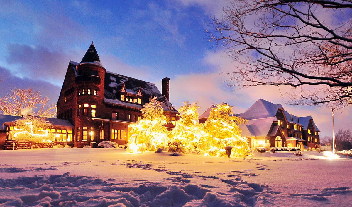 Belhurst Castle in the Winter - Geneva, NY