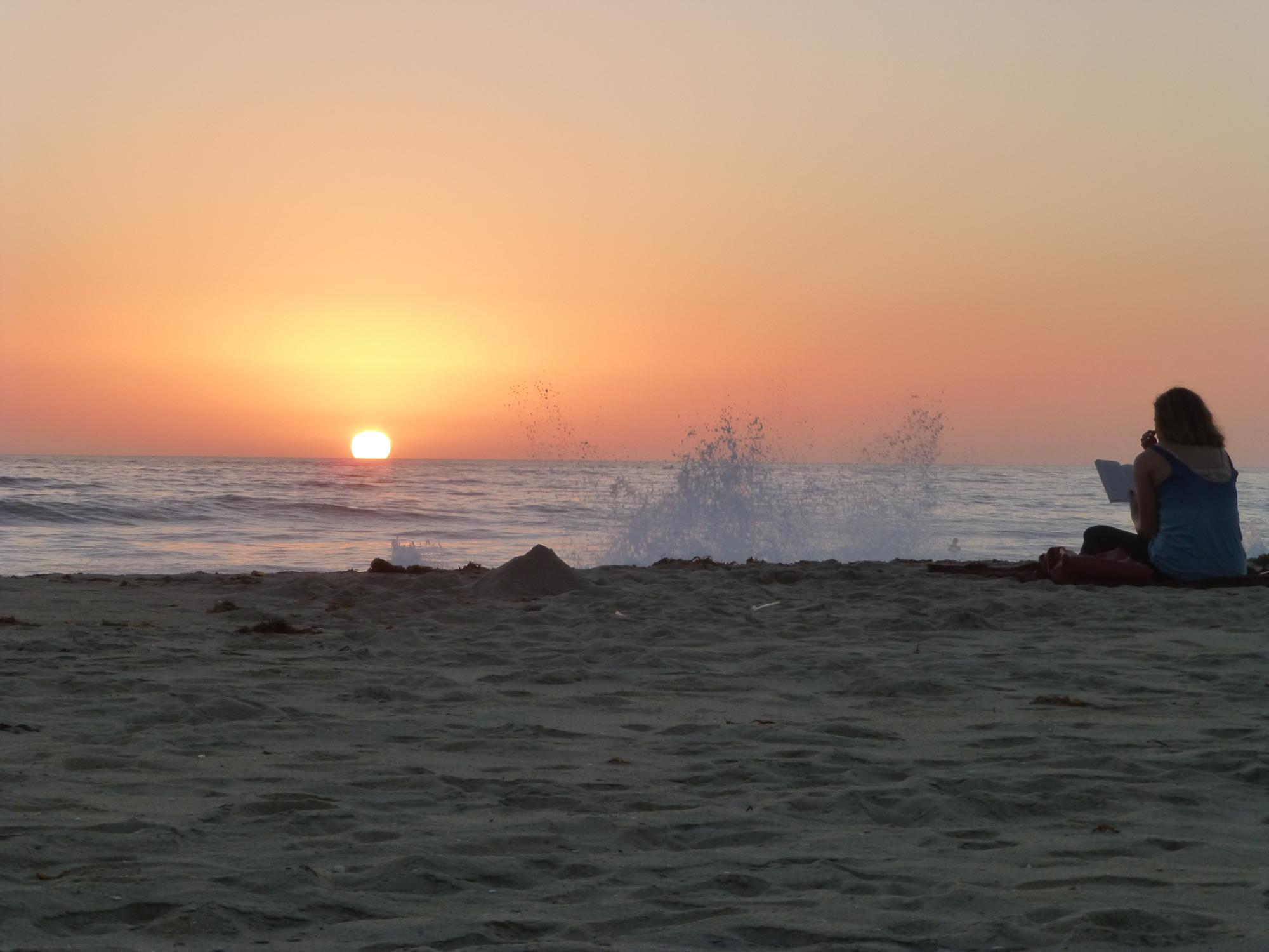 Sunset Carlsbad Beach