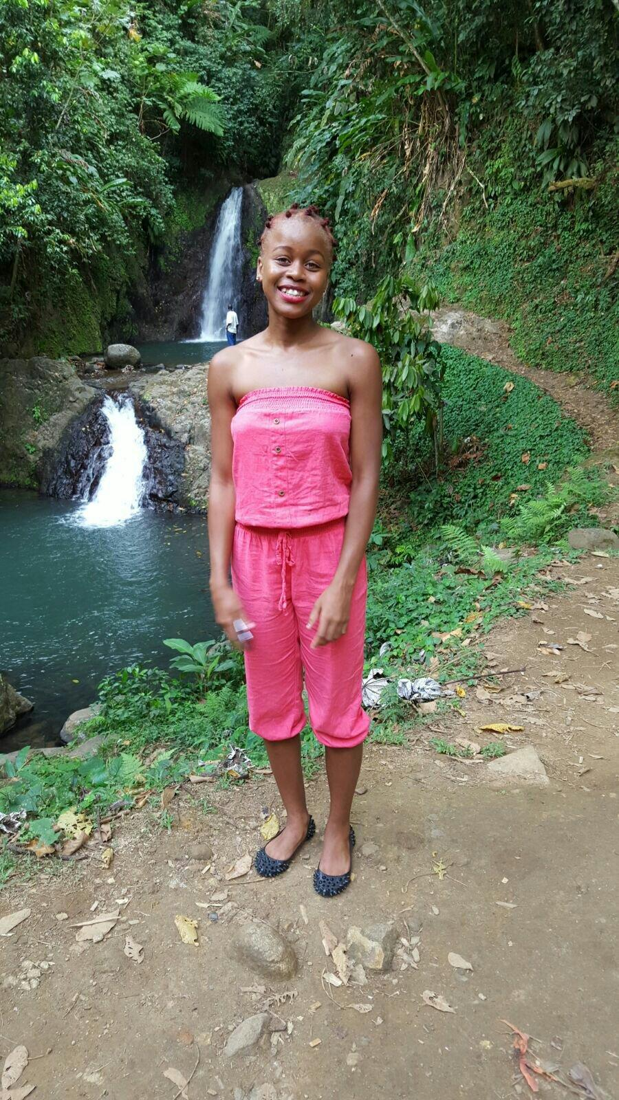 This is where I visited  the lovely waterfall and the lake in Grenada💗💗💗💗
