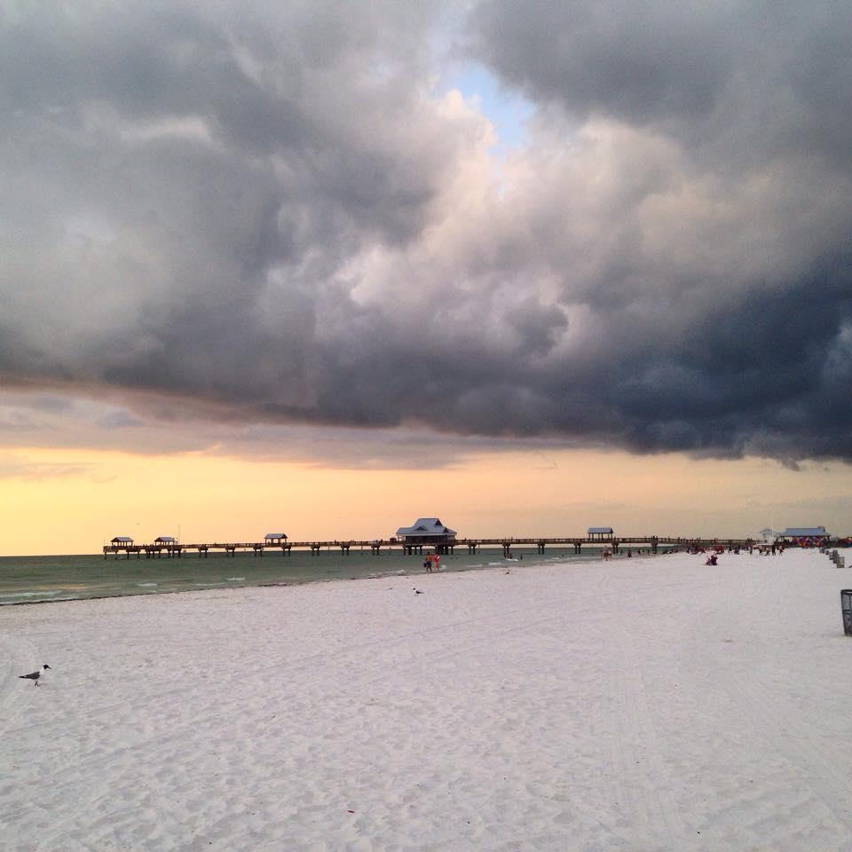 Clearwater Beach as the storm rolls in