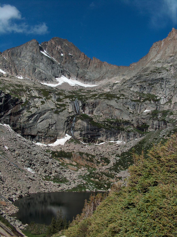 Black Lake, McHenrys Peak from above