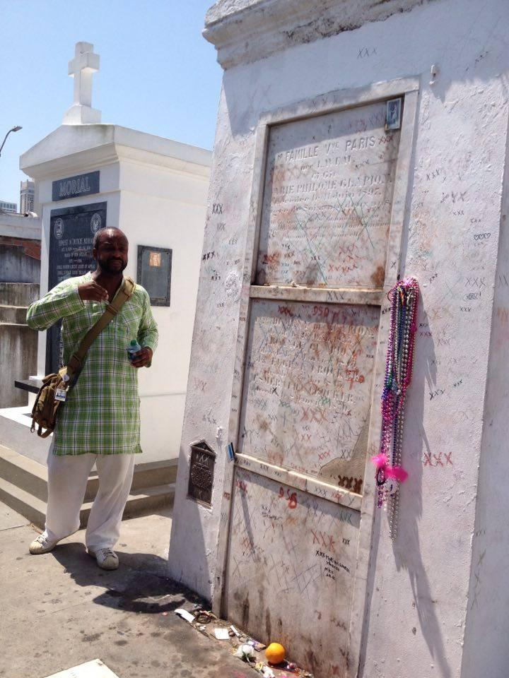 Ernie in action at Marie Laveau Tomb