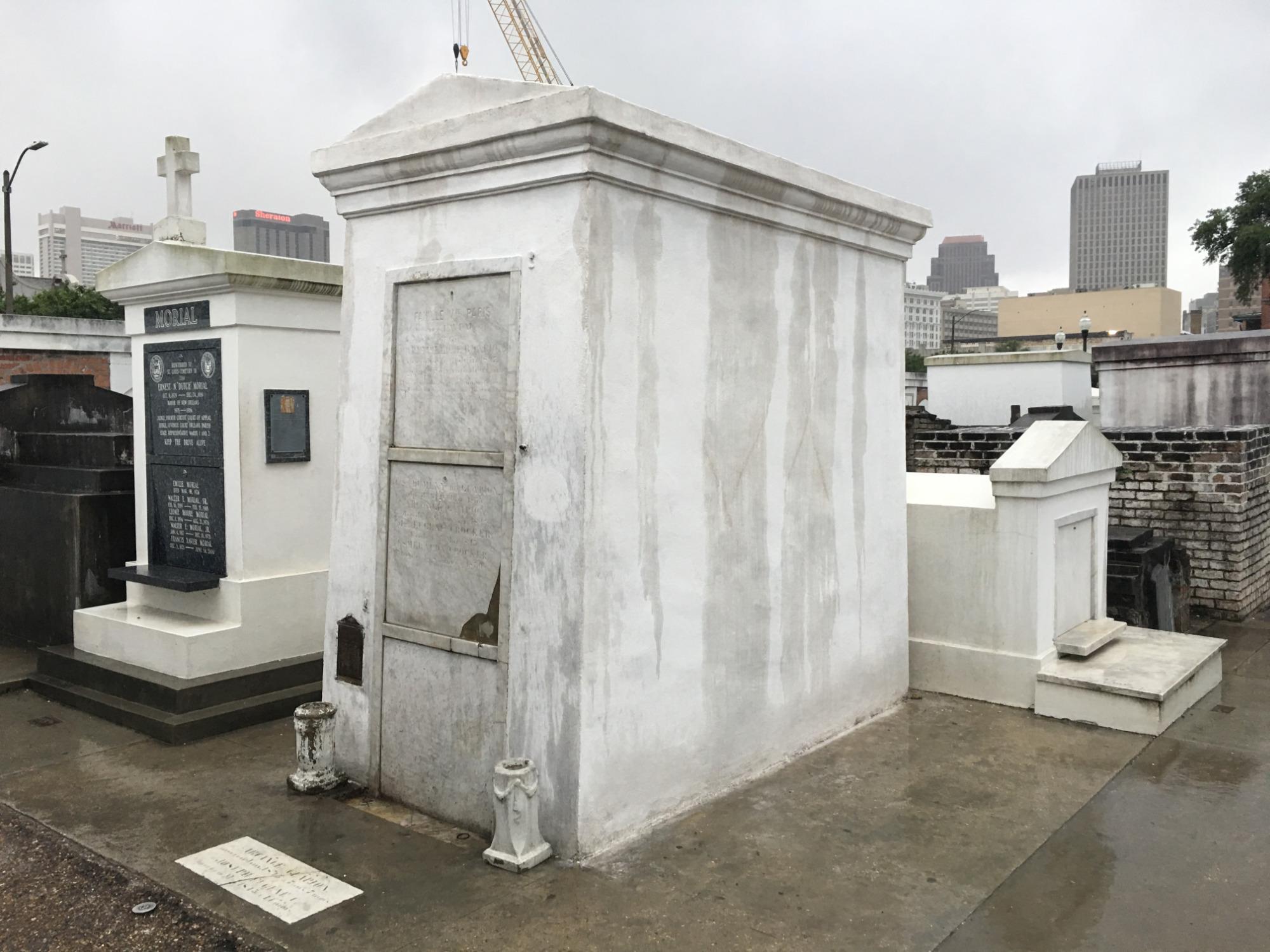 Marie Laveau Tomb after restoration.