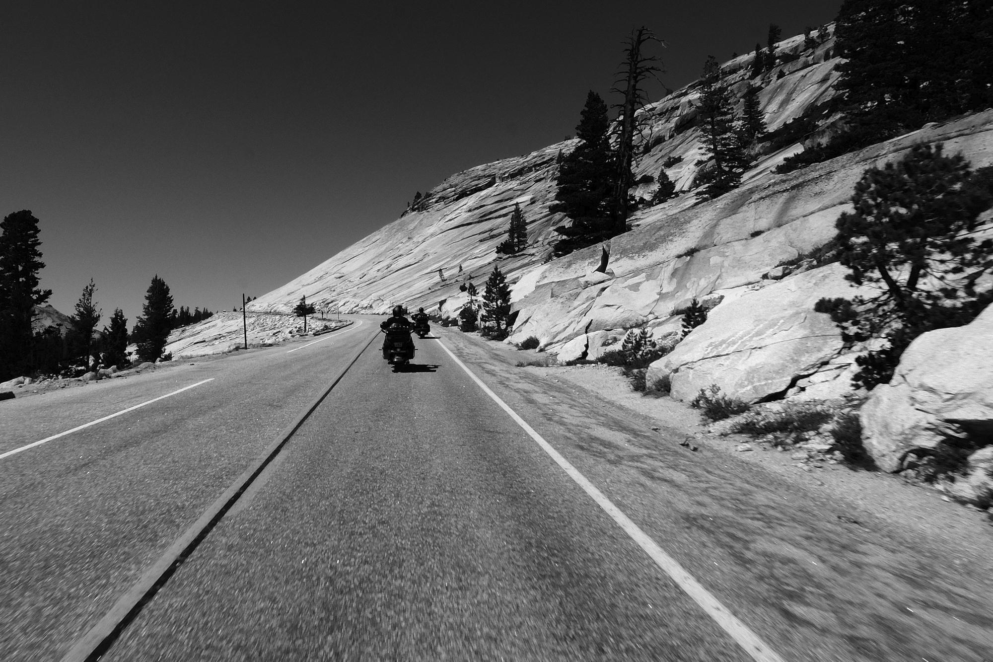 Riding through Yosemeti