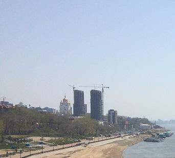 The Central Beach of Khabarovsk