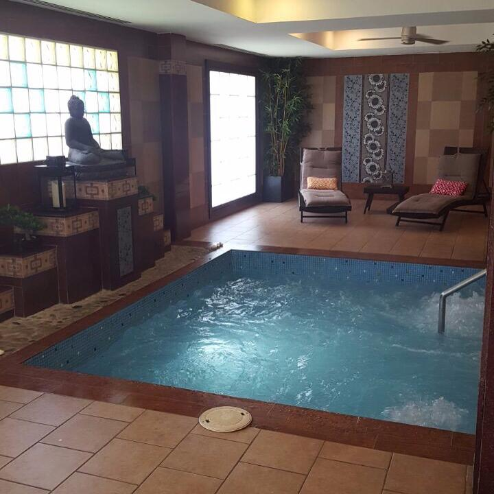 Our jacuzzi at Renova Riu Palace Aruba