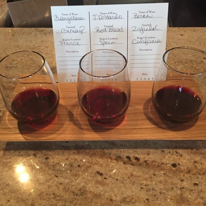 Wine Flights!   Change daily...
