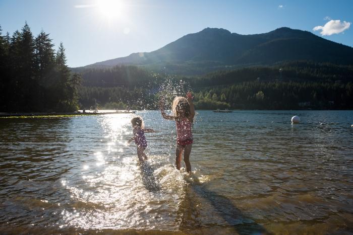 Play date at Alta Lake