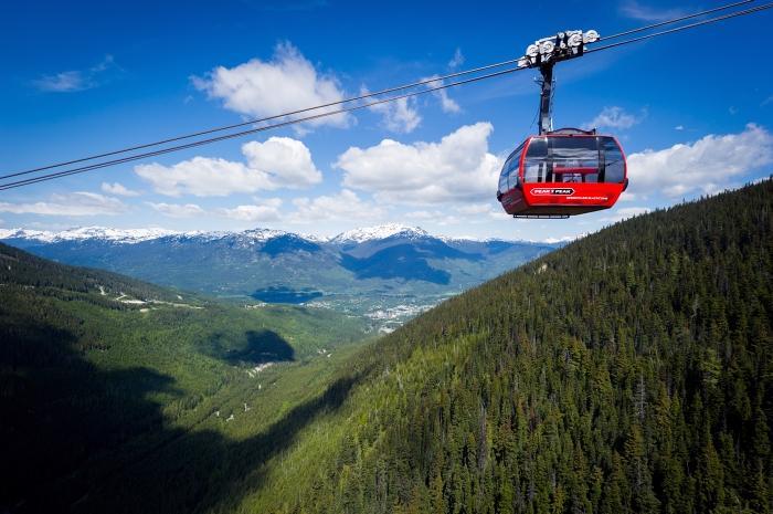 The world record breaking PEAK 2 PEAK gondola