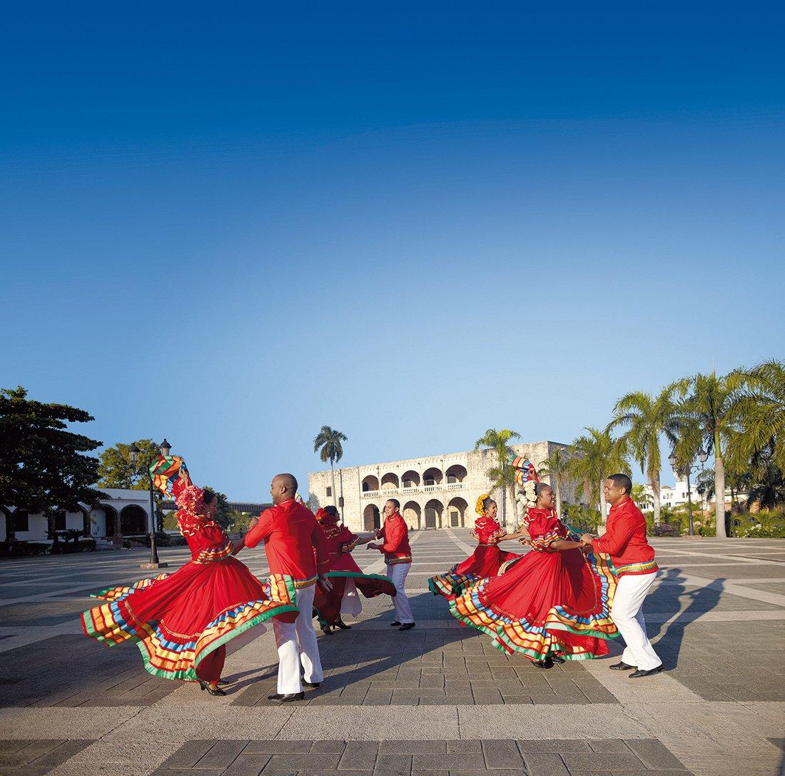 Folkloric dancers at the Alcázar de Colón, Santo Domingo