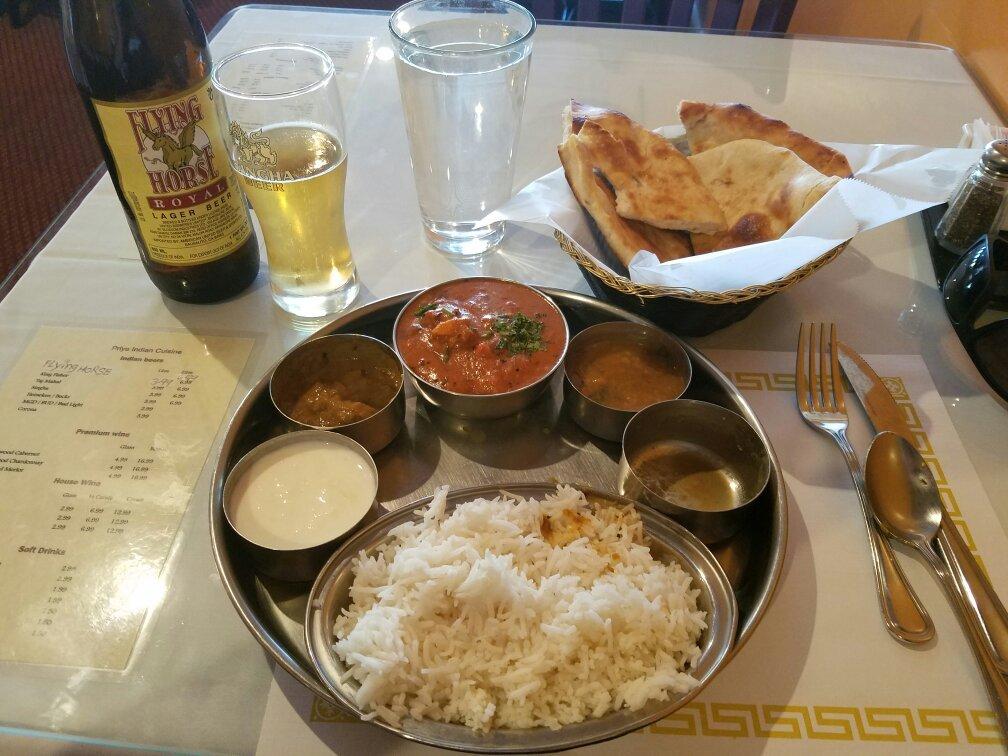 Priya indian cuisine redding menu prices restaurant for Art cuisine tahiti