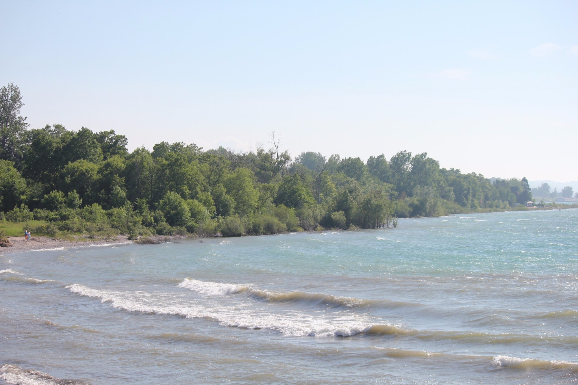 The Lake Michigan shoreline