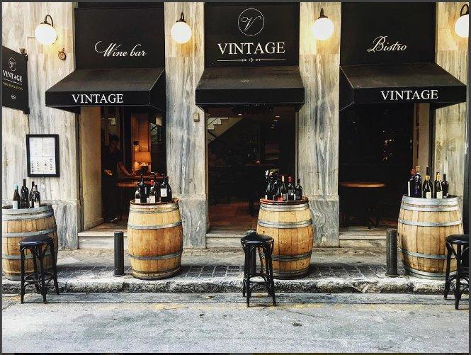 Vintage wine bar pinner