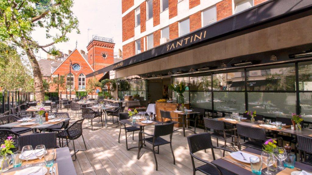 Santini restaurant london belgravia restaurant for Terrace cafe opentable