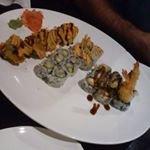 Goldern Alaskan, California, Boston and tempura shrimp