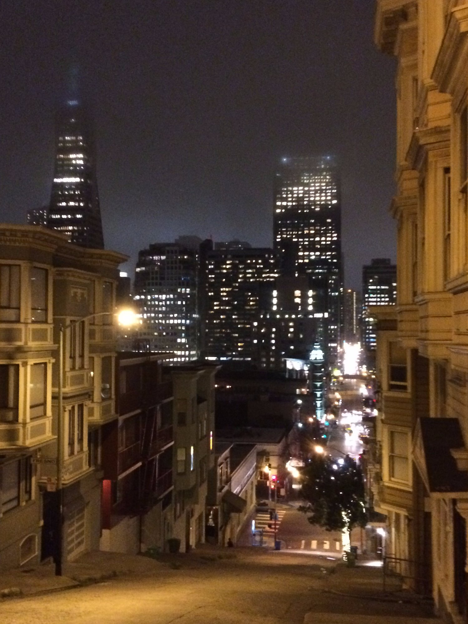 Looking toward Chinatown and North Beach