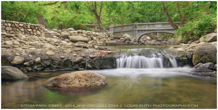Lithia creek Ashland Oregon (Main bridge)