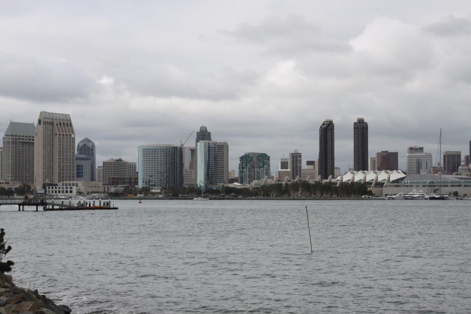 Veduta di San Diego da Coronado Island