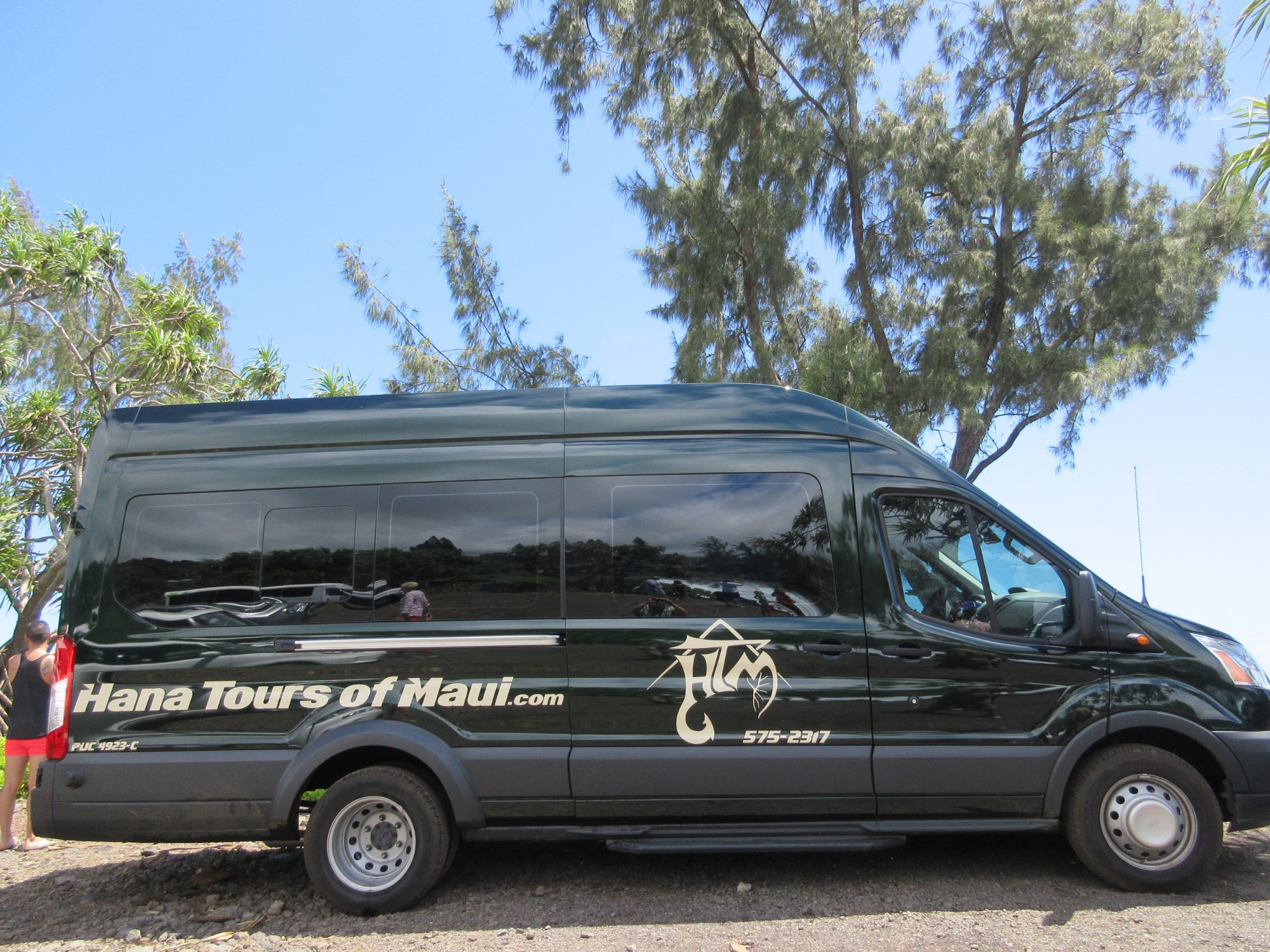 Air conditioned, customized, privacy glass on oversized windows and more on your tour to Hana, H