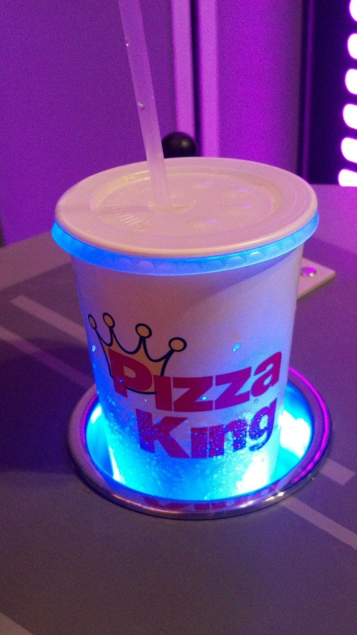 Pizza King cup, docked
