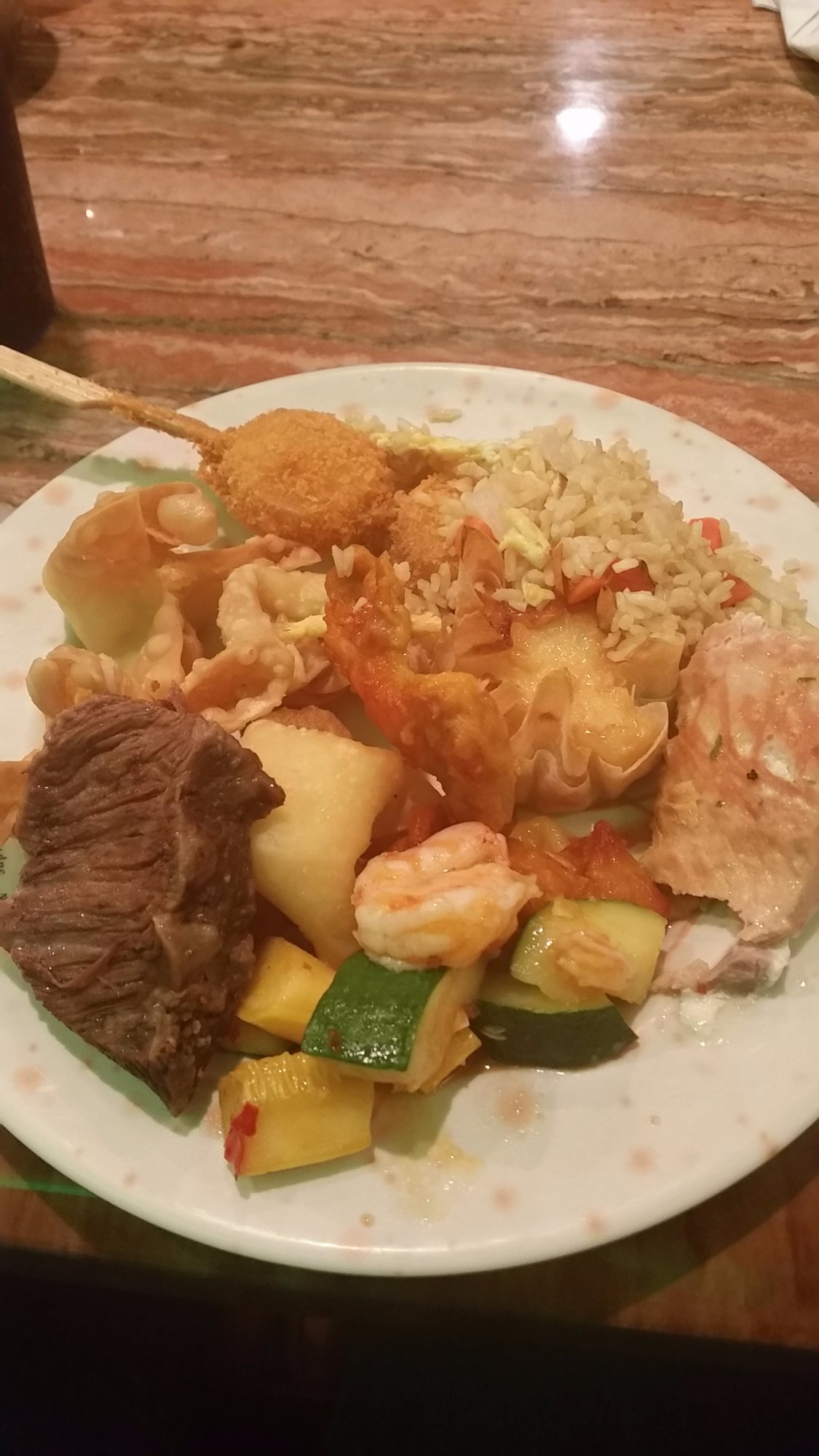Just some of the buffet food.