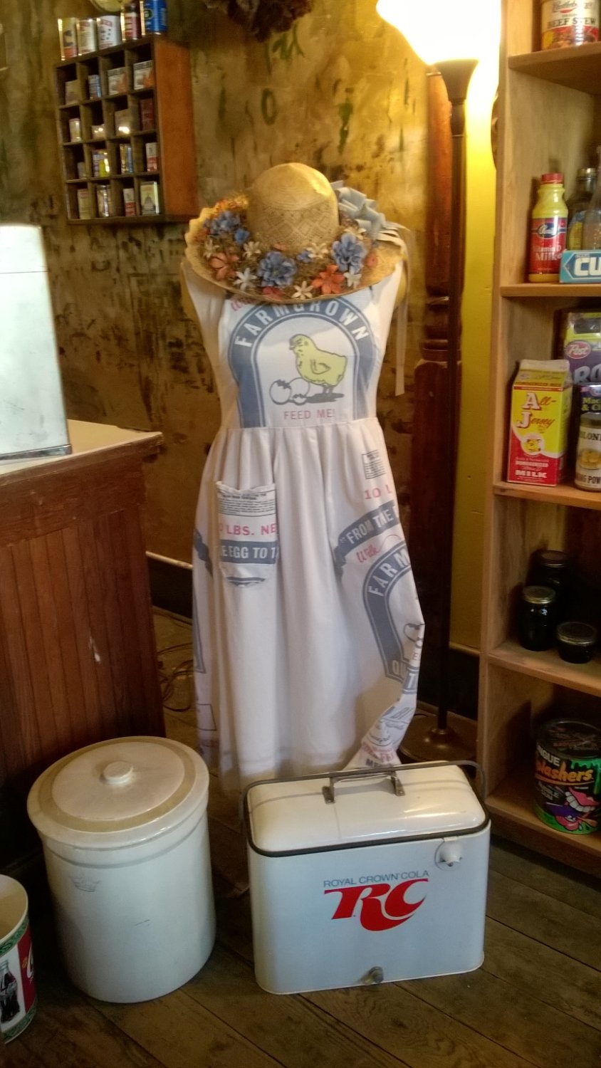 The Ladies use to make Dresses out of Flour Sacks!