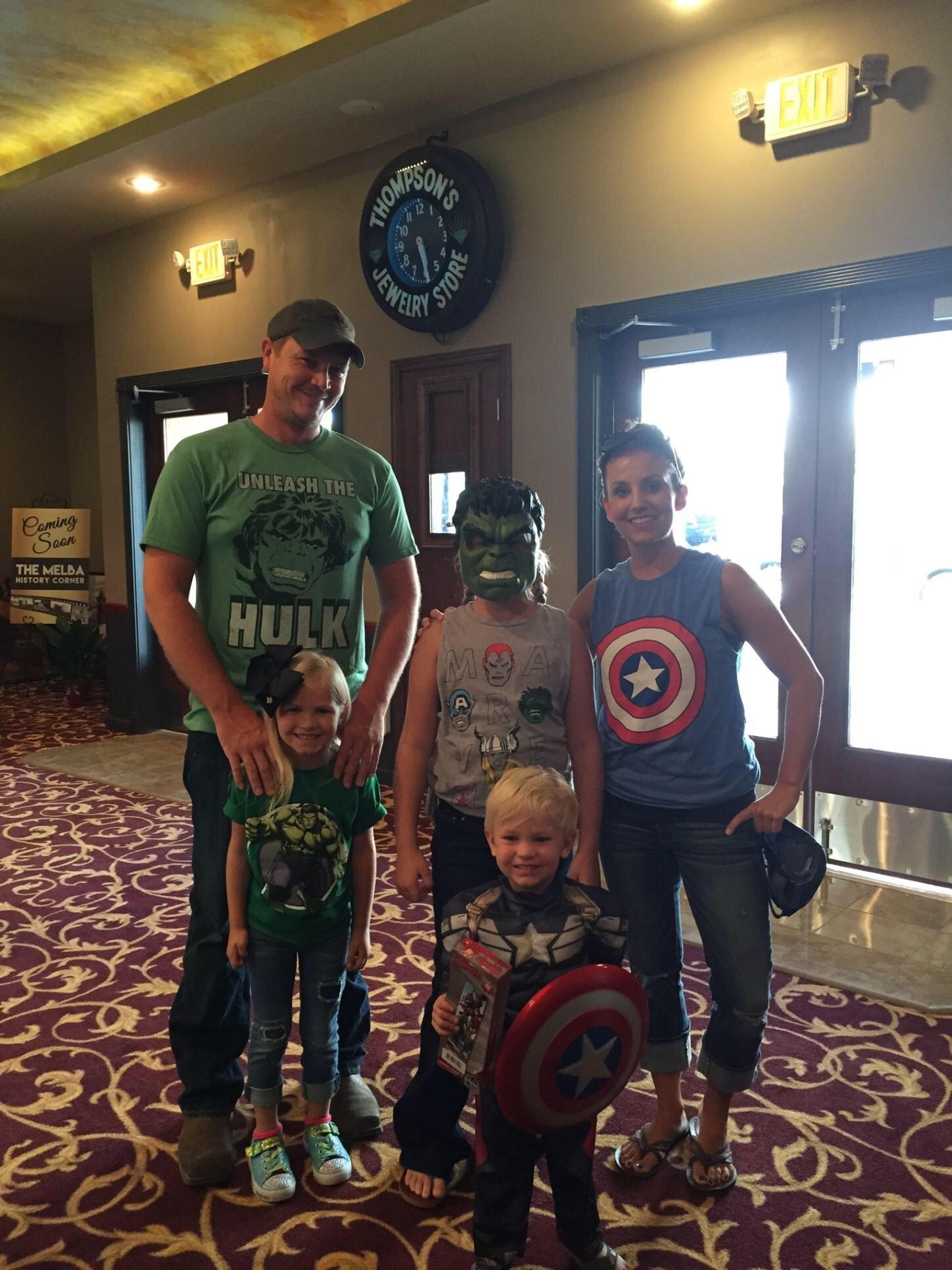 Captain America Civil War dress up night!
