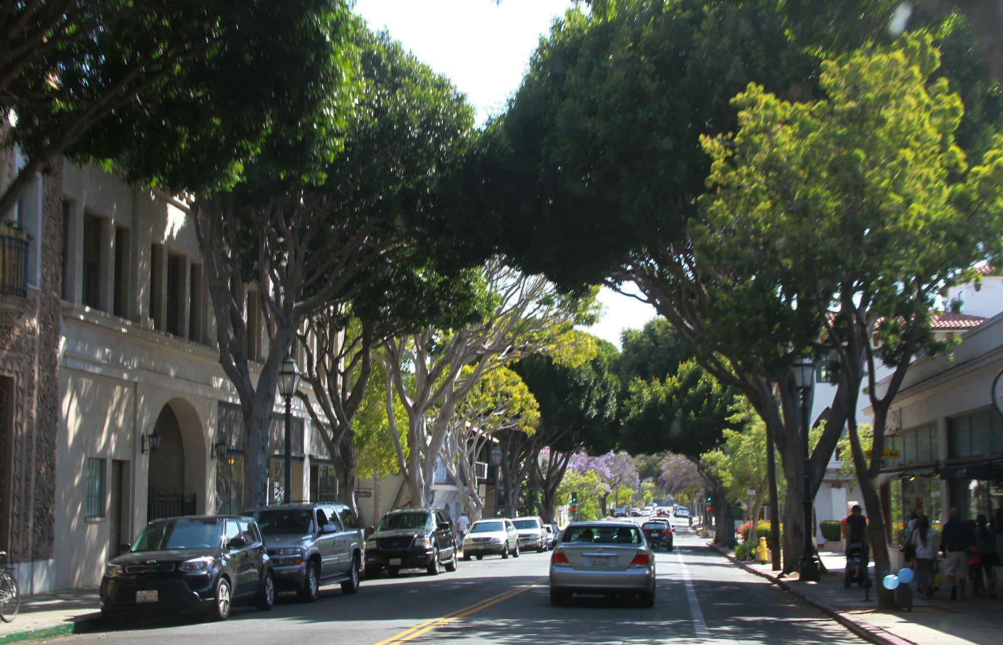 Avenues in down town santa Barbara