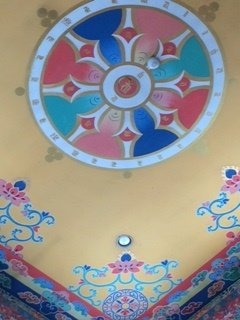 Painting on the shrine ceiling