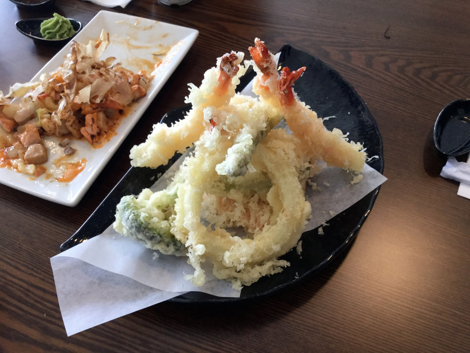 Assorted tempura - prawn and veggies.