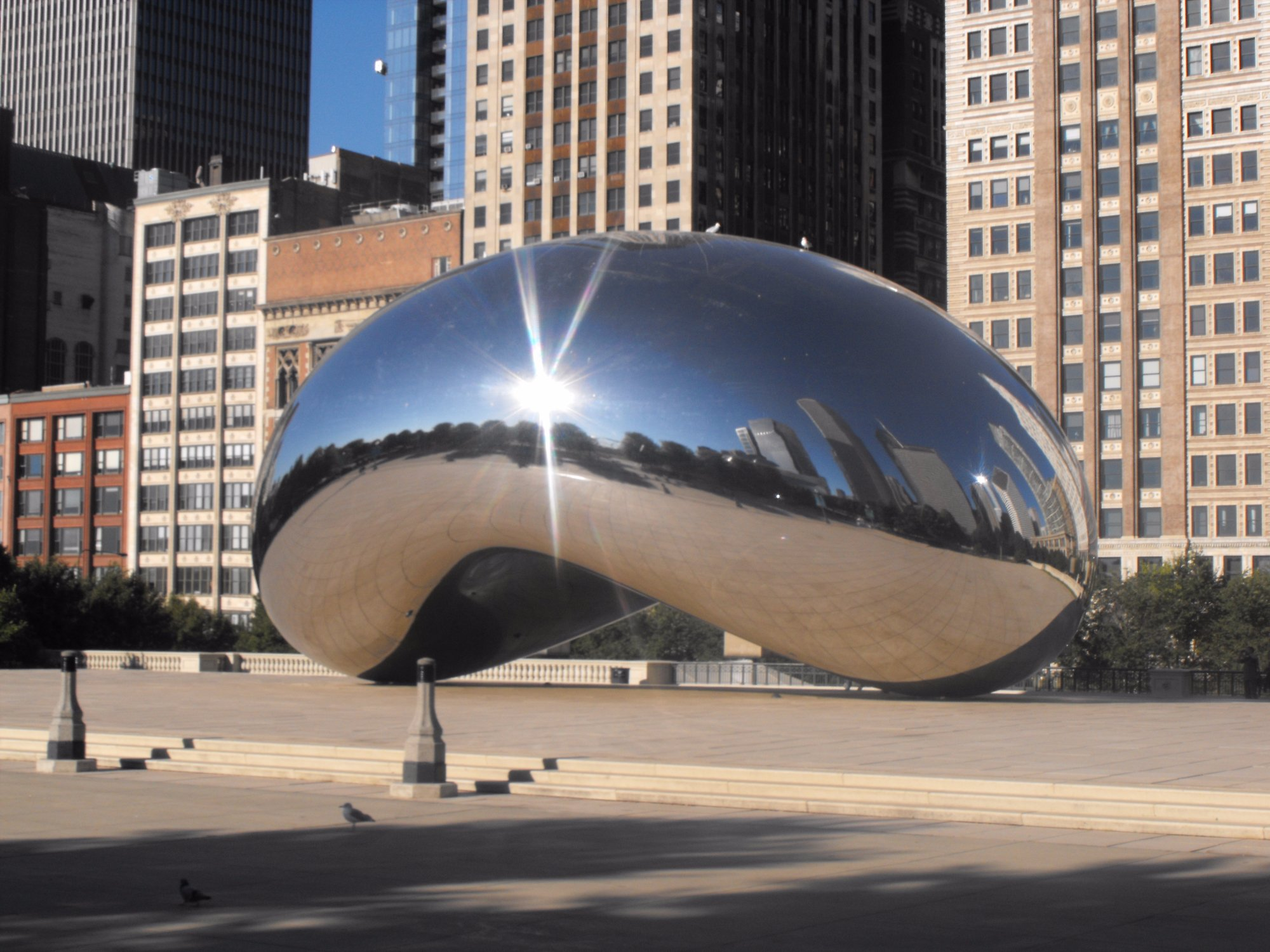 The famous Cloud Gate or Bean as many call it.