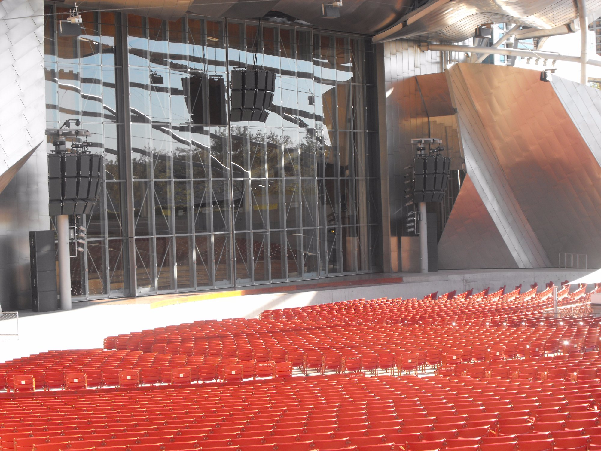 Jay Pritker Pavilion stage & seatings