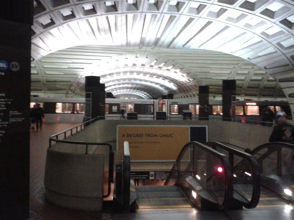 Inside the Union station.
