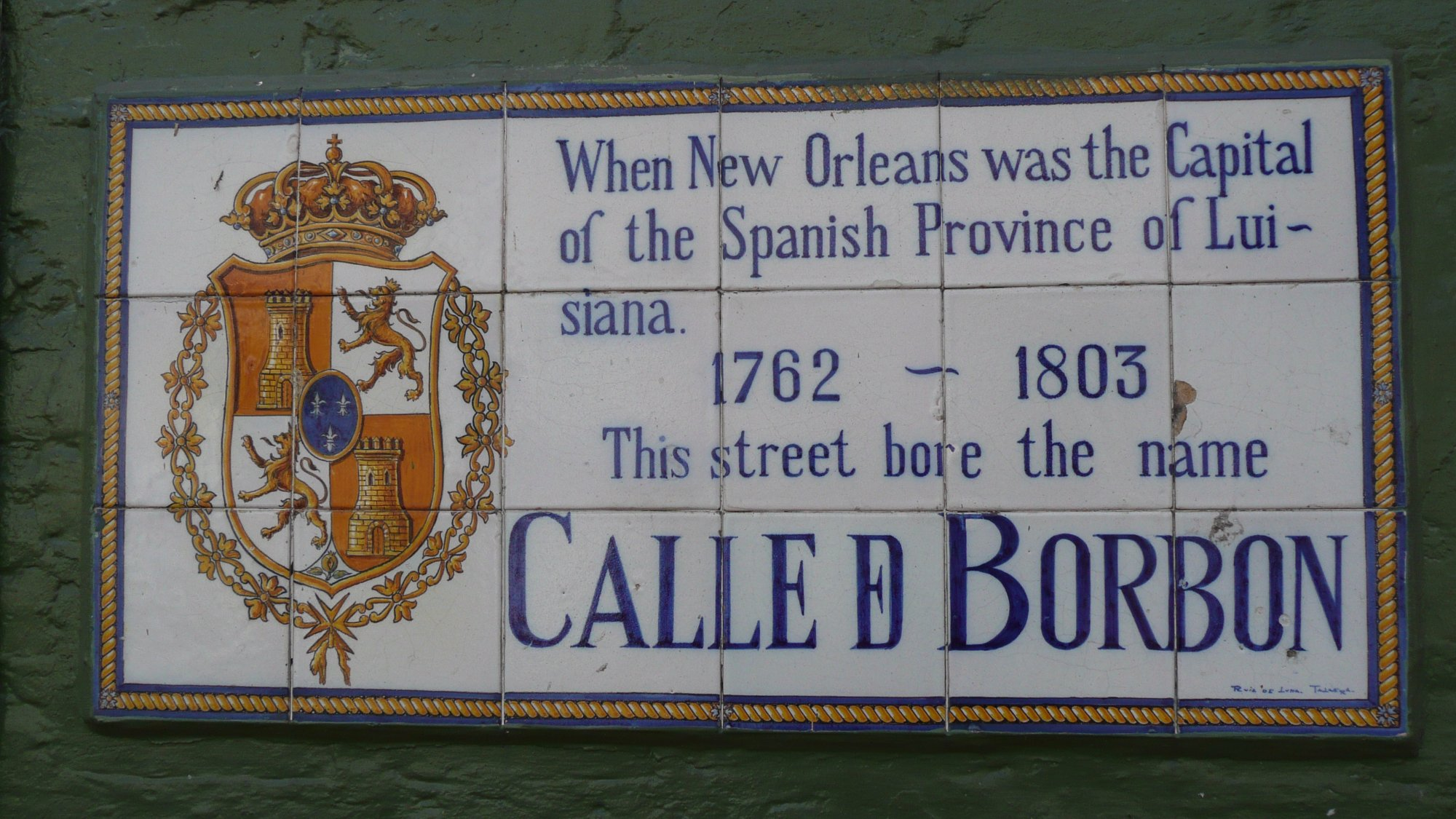New Orleans Plaque