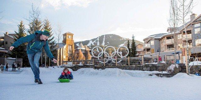 Whistler Village in the Winter Photo by Justa Jeskova