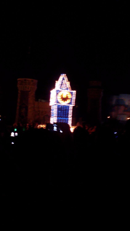 lighted tower disney parade