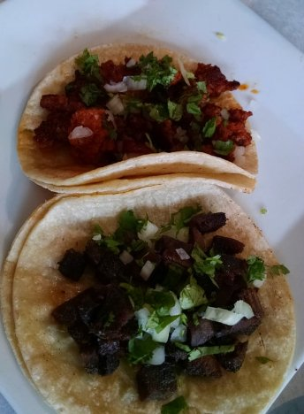 Tacos - spicy pork and tongue