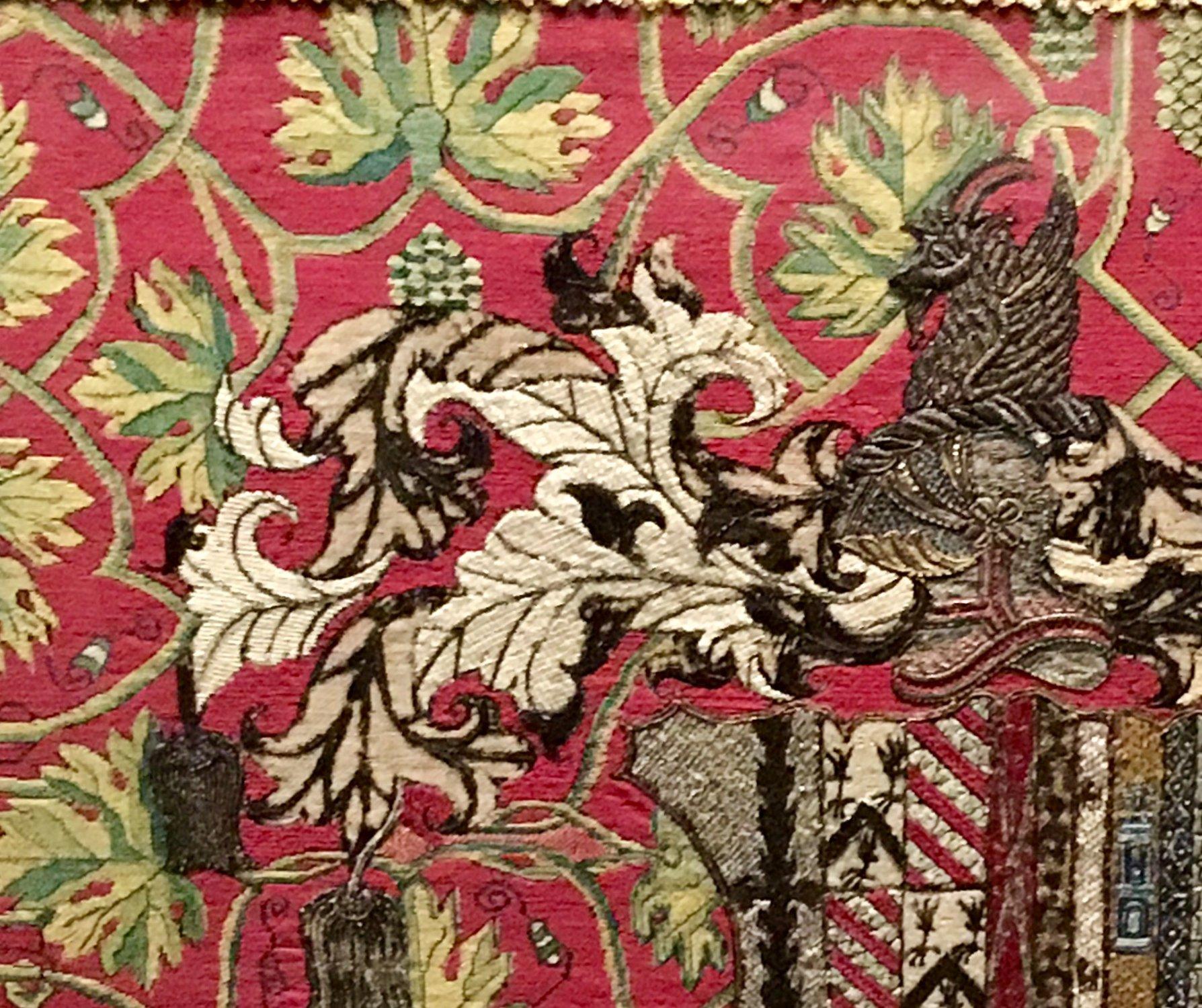 V&A museum heraldry tapestry