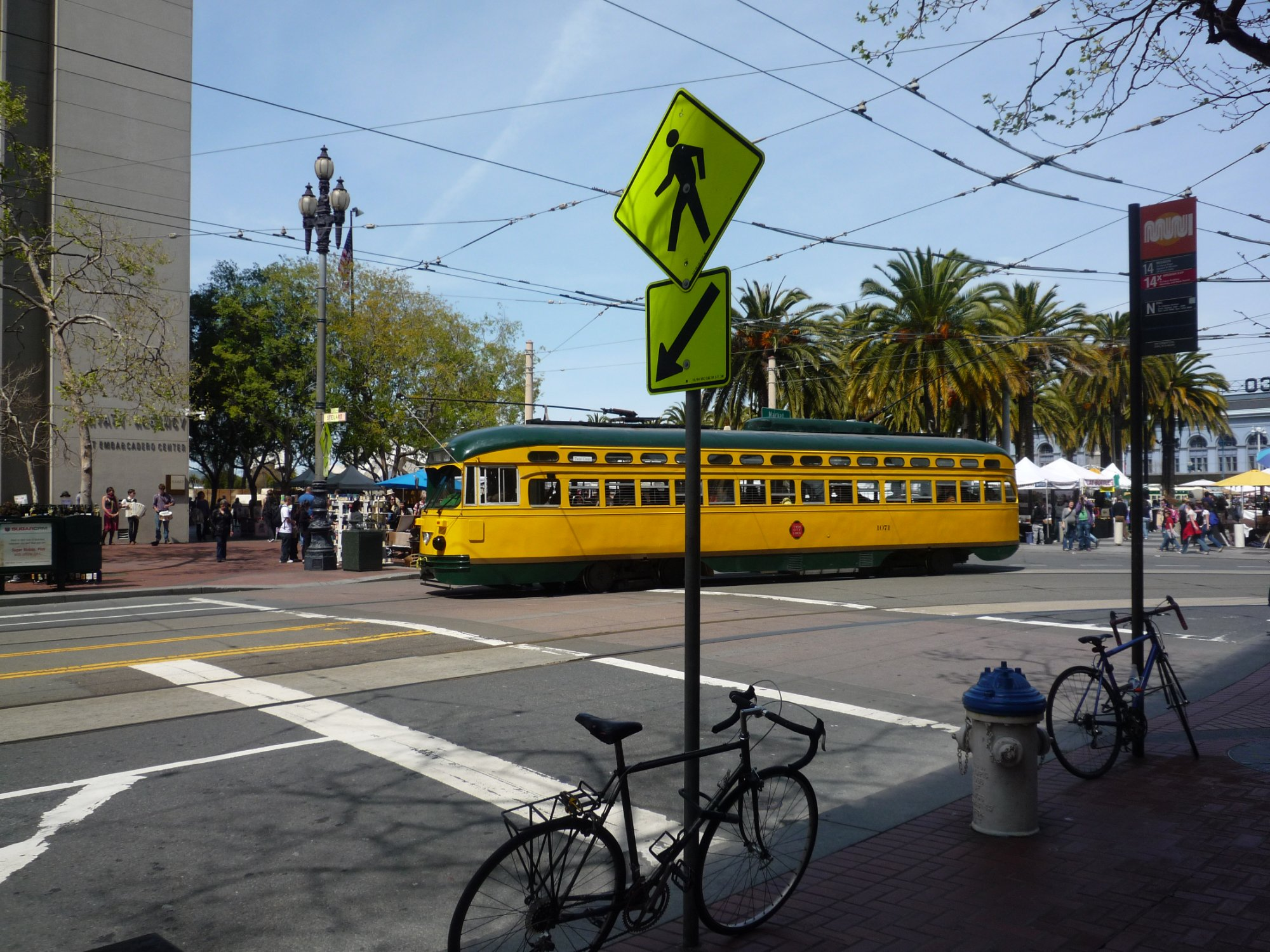 One of many trams