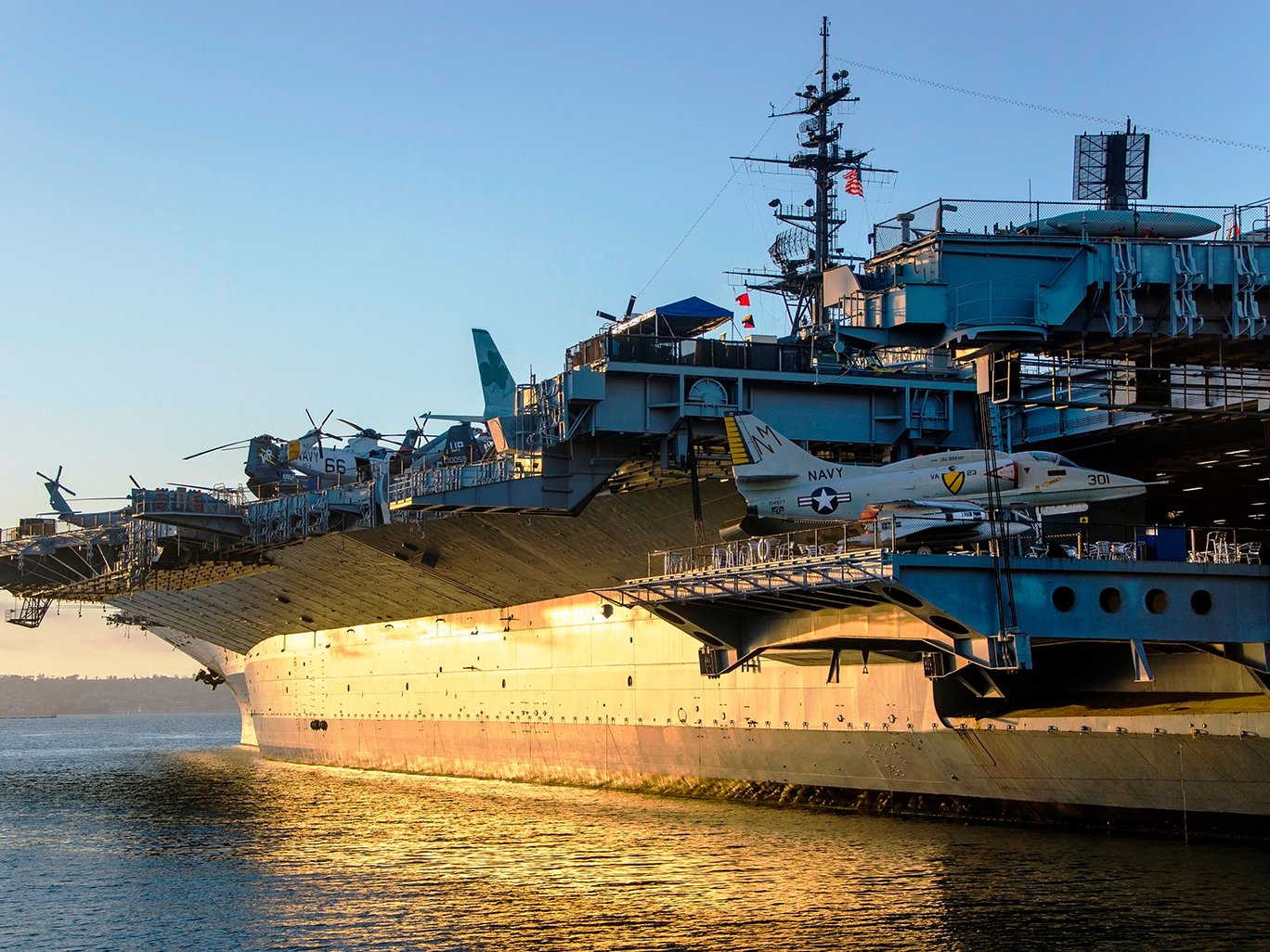 Discover San Diego's military history on the USS Midway. Credit: USS Midway Museum.