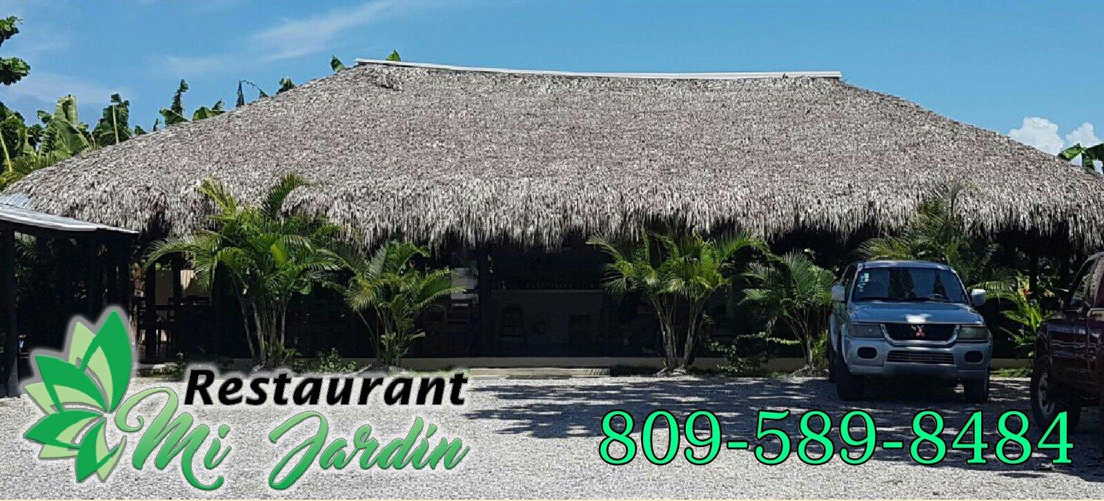 Mi jardin restaurant pizza steak house cabrera for Cafe jardin menu