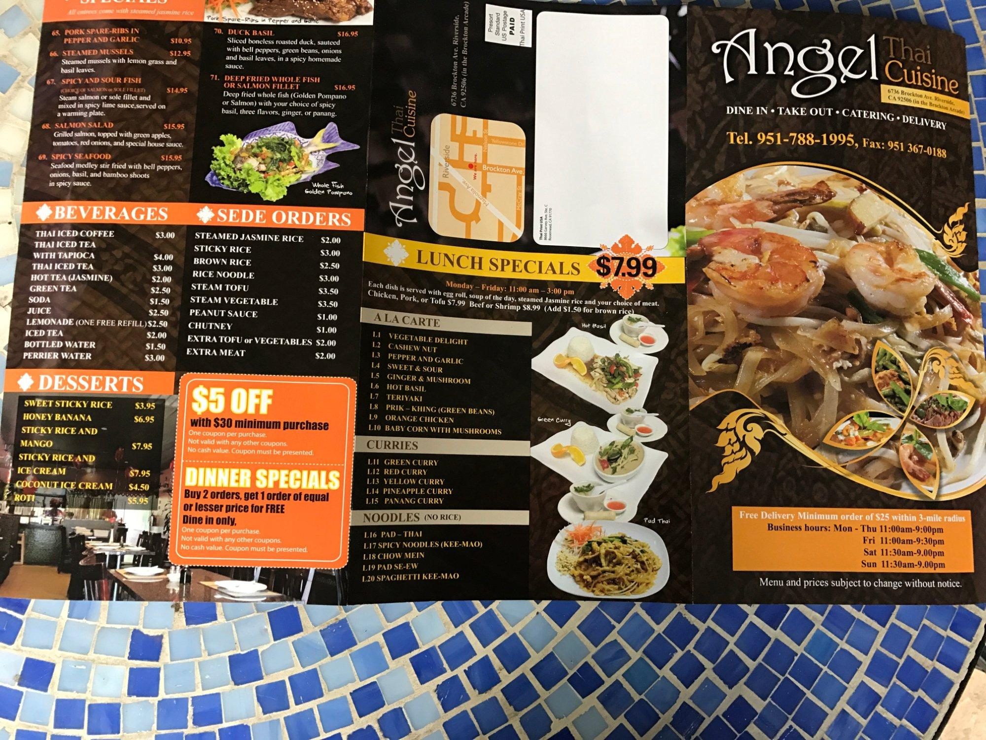 Angel thai cuisine riverside restaurant reviews phone for Angel thai cuisine riverside ca